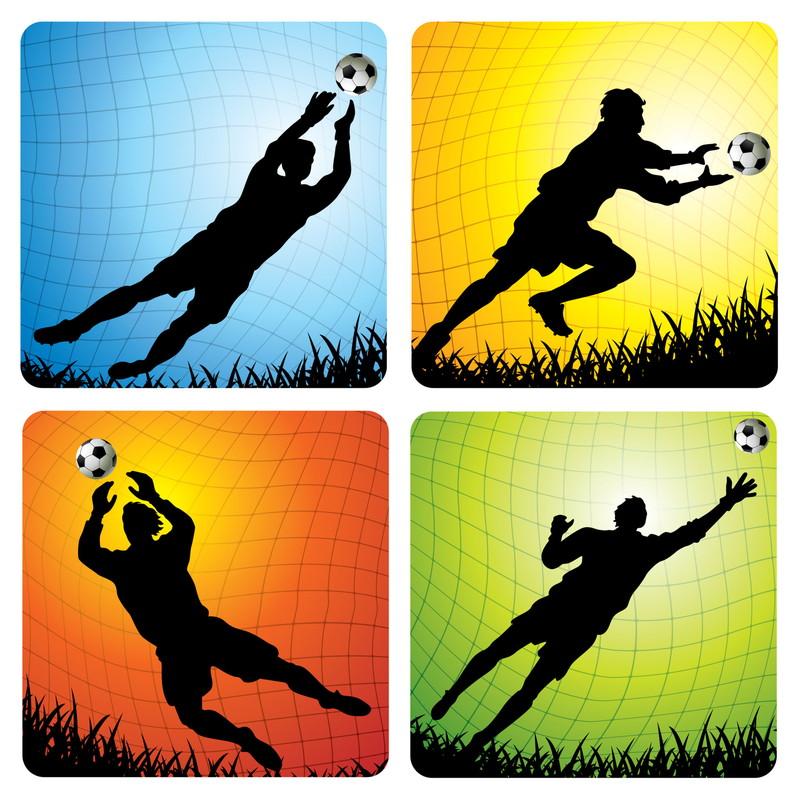 サッカーのシルエット